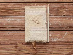 Excited to share the latest addition to my #etsy shop: Angel heart vintage lace fabric Moleskine sketchbook cover. OOAK, Hand Sewn with Swarovski beads, Travelers Composition book - journal