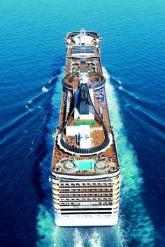 MSC Fantasia cruise ship at sea (by MSC Cruises) #msc #cruise