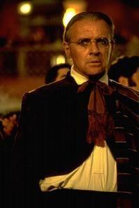 "Anthony Hopkins (as Don Diego de la Vega / Zorro, but disguised as ""Bernardo"" the servant) in The Mask of Zorro (1998)"