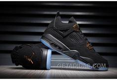 a1931b39759a 2017 Mens Air Jordan 4 Black Gold Suede Glow In The Dark For Sale Discount  YChcca