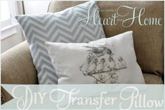 Iron On Transfer Pillows | All Things Heart and Home