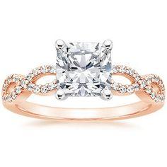 The Rose Gold Infinity Diamond Ring #BrilliantEarth