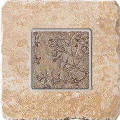 "#Interceramic - Indian Stone Harvest Sunset Insert Bronze 6 1/2"" x 6 1/2"""