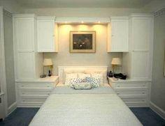 built in bedroom wardrobe cabinets around bed ile ilgili görsel sonucu