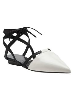 NARCISO RODRIGUEZ Tie Front Pointed Flat
