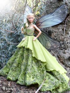 BArbie The Circle of Titania Collection/Refugio Rosa/ Beautiful Fairies, Beautiful Gowns, Barbie Dress, Barbie Clothes, Poupées Barbie Collector, Manequin, Blue Fairy, Beautiful Barbie Dolls, Fairy Dress