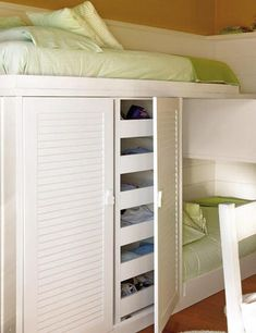 teen bunk storage