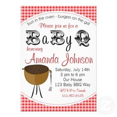 Baby Backyard Barbecue Babyq Shower Invitation
