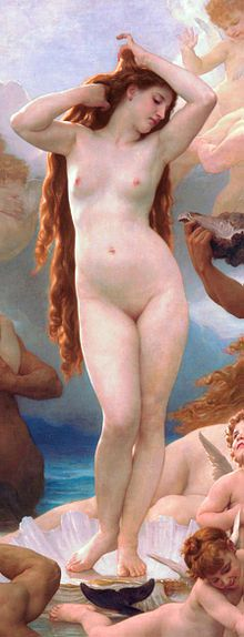 Detail from The Birth of Venus by William-Adolphe Bouguereau, 1879
