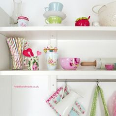 Kitchen Style greengate filled ikea shelves In My Pastel Cottage Home