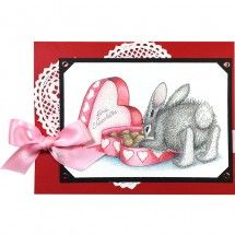 stampendous stamp HappyHoppers® Bon Bon Bunny by Jamie Martin