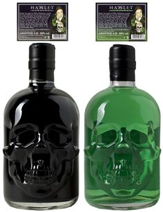 Collect the whole set ! ... Absinthe Skull Set Black-Green