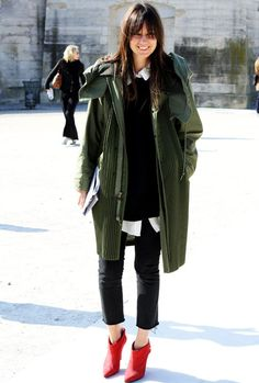 Now I want a big military coat like this....