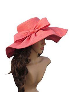 Linen Summer Womens Kentucky Derby Wide Brim Sun Hat Wedding Church Sea Beach A047 (Watermelon Red) Generic http://www.amazon.com/dp/B00M90FYB4/ref=cm_sw_r_pi_dp_sh1hvb1FCWPXR