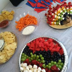 My sons party snacks