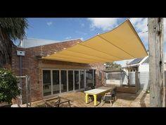 DIY Simple Retractable Canopy for Your Pergola Deck Shade, Pool Shade, Backyard Shade, Pergola Shade, Shade House, Outdoor Pergola, Backyard Pergola, Pergola Plans, Outdoor Decor
