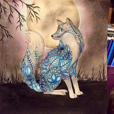 Lobo #inspirationalcoloringpages #coloringbooks #livrosdecolorir #jardimsecreto #secretgarden #florestaencantada #enchantedforest #páginasparacolorir #livrosdecolorir #johannabasford