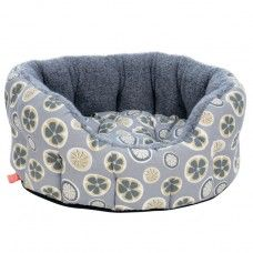 Poppy & Rufus - Hector, our Dog Bed in Poppy fabric - small