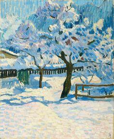 Giovanni Giacometti - Winter im Garten, 1909, oil on canvas (hva)
