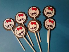 12  Monster High Cupcake Toppers  Birthday by sugarspiceparties, $5.00