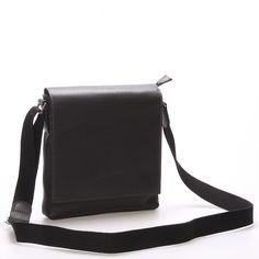 #Gerard #Henon #Frederic Černá luxusní kožená unisex taška přes rameno Gerard Henon. Taška je velice originální! Ušita je z kvalitní kůže.Má přehazovací klopu a vejde se do ní vše, co každodenně nosíte - peněženka, mobil, klíče od auta, doklady. Taška je neformální, ale také elegantní a business. Uvnitř jsou dvě kapsičky, další potom zepředu a zezadu.