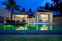 41 Cozy Tropical Beach Villa Design Ideas - About-Ruth Villa Design, Modern House Design, Contemporary Building, Contemporary Architecture, Architecture Design, Mandalay, Villas, Concrete Pool, Beach Villa