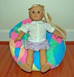 40% OFF! TOY Bean Bag Chair for 18 inch American Girl Size Doll - COLOR DROPS FLEECE - FREE SHIPPING! AHH! Products,http://www.amazon.com/dp/B00GAPLQW0/ref=cm_sw_r_pi_dp_85TEsb1A9WTWAXET