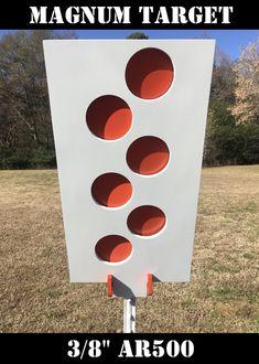 2pcs Gallery Swinging Metal Target Auto Reset Traps Shooting Spinning Target