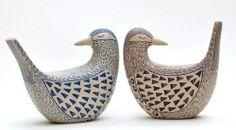 & little owls& & birds& & & & longeared owls& Lorraine Izon is a potter and an illustrat. Pottery Animals, Ceramic Animals, Ceramic Birds, Clay Animals, Ceramic Pottery, Ceramic Art, Ceramic Decor, Clay Birds, Hand Built Pottery