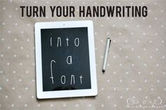 Turn Your Handwriting Into a Font | Jones Design Company