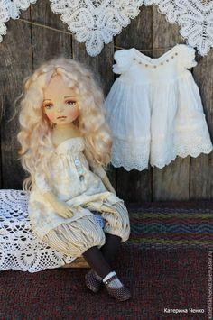 Купить Текстильная кукла, Брижит - бежевый, кукла, кукла из ткани, кукла текстильная