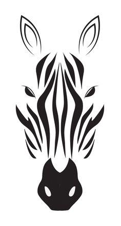 zebra drawing in black & white | @ indulgy |