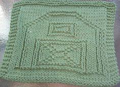 DigKnitty Designs: Barn Knit Dishcloth Pattern