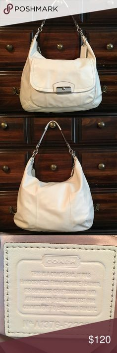 Coach F22309 Kristin Leather Large Hobo Coach Kristin in Cream Leather Hobo  in good condition does 89c514308c