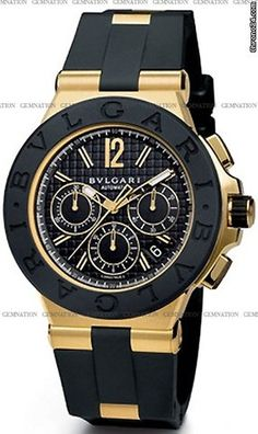 Bulgari Diagono Chronograph DG42BGVDCH One of my favs! #Bvlgari Screw-in 18K Yellow Gold
