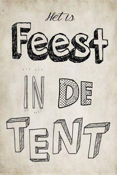 Feest in de tent.