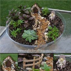 This article shows you how to make your own fairy garden - including how to make your own fairies and your own furniture! - From Crafts For All Seasons