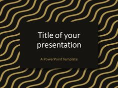 Gradient wavy pattern powerpoint template presentationgo brown gold wavy pattern powerpoint template toneelgroepblik Choice Image