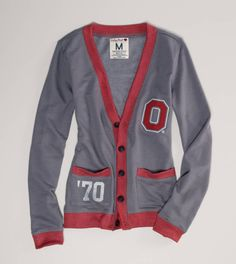 Ohio State Vintage Varsity Cardigan - Love this!! Buckeye by marriage, but love to support my man :) esp when its cute!