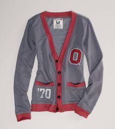 Ohio State Vintage Varsity Cardigan