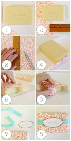 D.I.Y. Paper Wrapped Soaps - Home - Creature Comforts - daily inspiration, style, diy projects + freebies