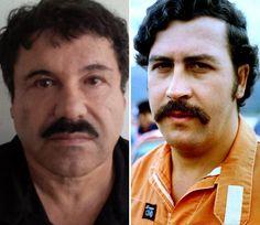 """Similitudes entre """"El Chapo"""" y Pablo Escobar"""