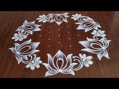 Rangoli Side Designs, Rangoli Designs Latest, Simple Rangoli Designs Images, Rangoli Patterns, Free Hand Rangoli Design, Small Rangoli Design, Rangoli Designs Diwali, Rangoli Designs With Dots, Beautiful Rangoli Designs
