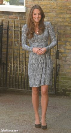 19 Feb 2013. Catherine Duchess Of Cambridge Visits Hope House In South London. Wearing 2011 MaxMara Studio Dress