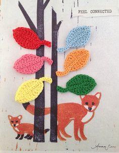 Crochet leaves  set of 6 by annemariesbreiblog on Etsy