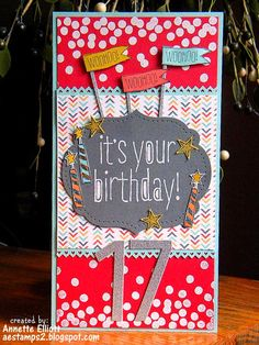 Stampin' Up! Birthday by AEstamps a Latte...: Happiest Birthday wishes to my daughter!