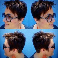 women's short sassy hairstyle