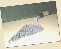Knitted Builders trowel. This was made for my fab builder.....