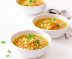 Polévka s červenou čočkou a mrkví | Recepty Albert Cheeseburger Chowder, Soup, Soups, Soup Appetizers