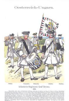 Band XIV #1. -Österreich-Ungarn. Infanterie-Regiment Graf Brown. 1717.